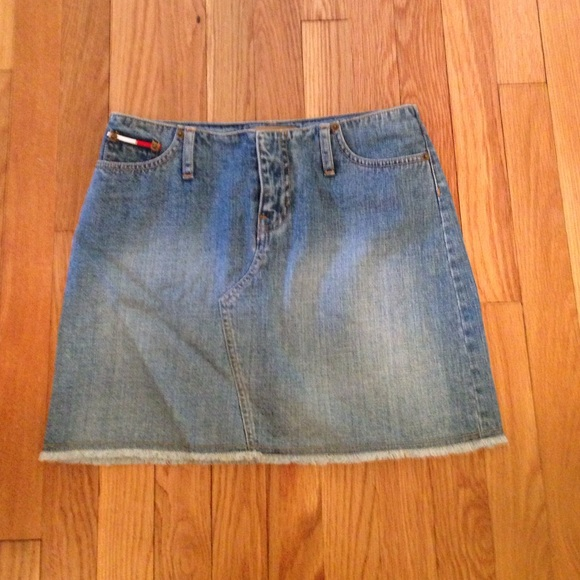 new product best supplier on feet images of Tommy Hilfiger jean skirt