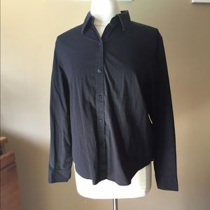Chaps Tops - Chaps BLACK Shirt NWTNew In Package Petite Large