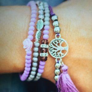 Three Bird Nest Jewelry - Beautiful Beaded Layered Bracelets