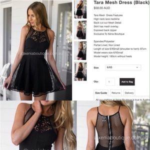 Xenia Boutique Dresses & Skirts - Xenia Black Tara Mesh Dress