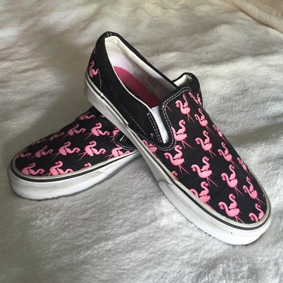 Vans Pink Flamingo Slip Ons | Slip on, Slip on sneakers