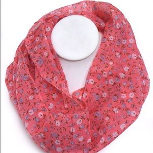 Accessories - Pink Floral Infinity Scarf