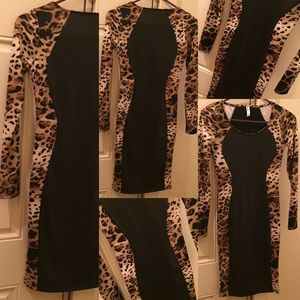 Black & Leopard Dress