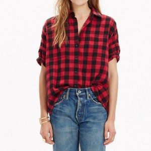 Madewell Tops - Madewell Flannel Courier Shirt in Buffalo Plaid