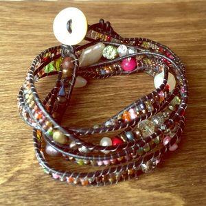 Weekend pop of color wrap bracelet!