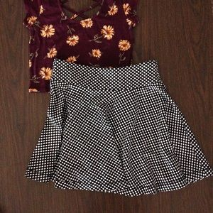 Urban Outfitters Dresses & Skirts - Urban Outfitters Cooperative Polkadot Skater Skirt