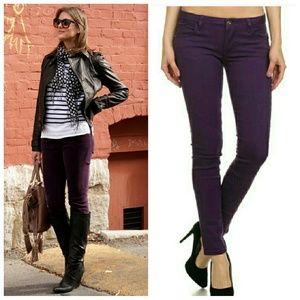 Denim - Purple Skinny Denim Jeans