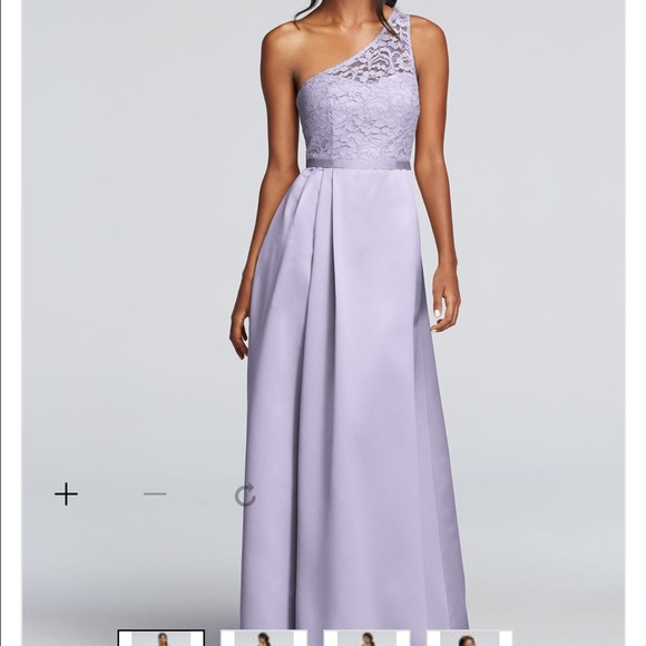 ad09534870c New Iris color- Long Illusion Lace and Satin dress