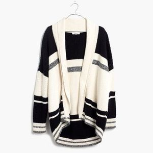 Madewell Sweaters - Madewell Striped Cocoon Cardigan Sweater
