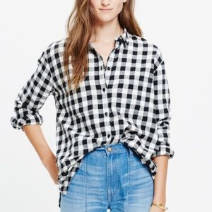 Madewell Tops - Madewell Flannel Oversized Flannel - Buffalo Check