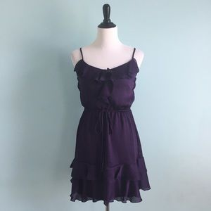 B Darlin Dresses & Skirts - Purple Ruffley Dress