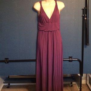 J. Crew plum size 6 cotton maxi dress