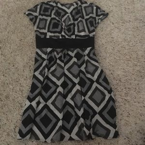 EXPRESS Black and gray dress!