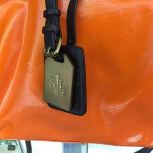 Ralph Lauren orange bag/ detachable shoulder strap