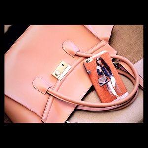 Handbags - Blush Italian leather bag