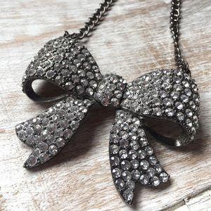 Jewelry - Rhinestone Bow Necklace