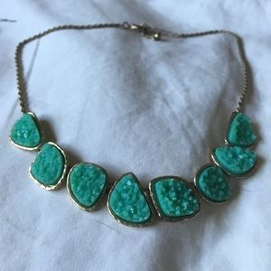 Faux druzy stone necklace