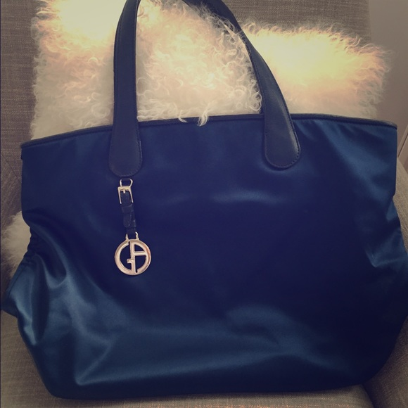 Giorgio Armani Bags   Navy Blue Bucket Bag   Poshmark 7db1f5dfd3