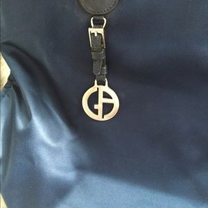 Giorgio Armani Bags - Giorgio Armani Navy Blue bucket bag 3dfdbbc3af