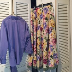 Coldwater Creek Skirt & Blouse