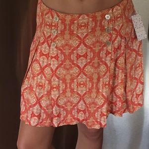 ⭐️SALE⭐️NWT Free People peach floral skirt