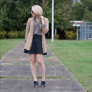 Old Navy Tops - Tan & black striped blouse