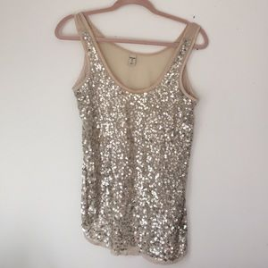 Old Navy Tops - Lightweight sheer sequin top