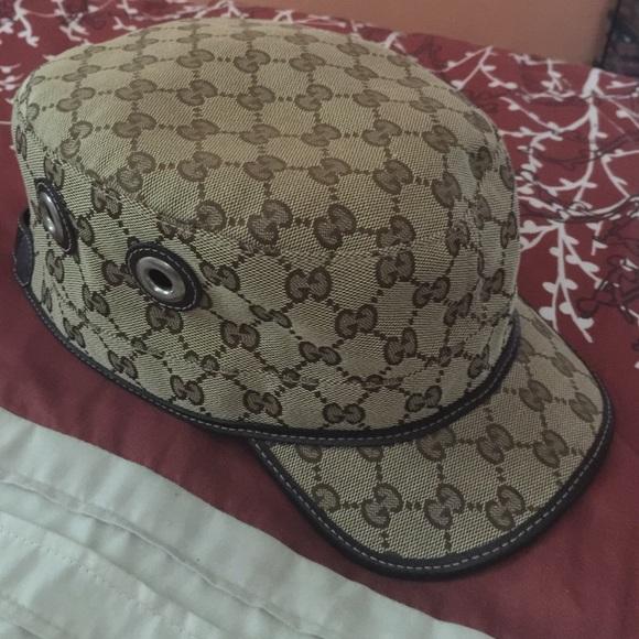 Gucci Accessories - Authentic Gucci Canvas Military Hat e9af76a6e35