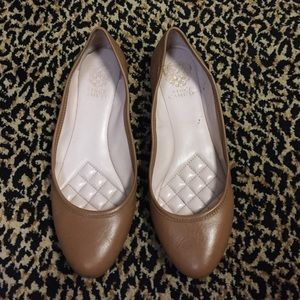 Brown Vince Camuto flats