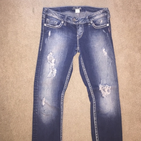 67% off Silver Jeans Denim - Ripped Silver jeans Tuesday pencil ...
