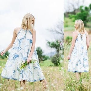 Tie Dye Denim Swingdress from Anthropologie
