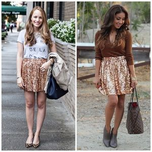 QMack Dresses & Skirts - Beautiful Copper Sequin Skirt