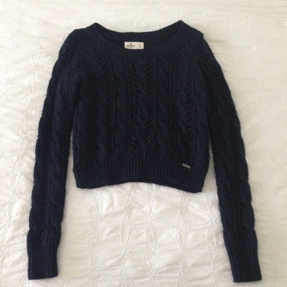ab9663ebe3 Hollister Sweaters - Hollister Navy Blue Cable Knit Sweater