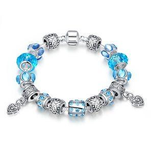 Jewelry - Crystal European glass beads bracelet