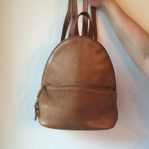 84faa503f4 Small brown leather backpack. M 575df40a4225be534b010043