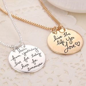GlamVault Jewelry - 5⭐️ Gold Live the life you love Necklace