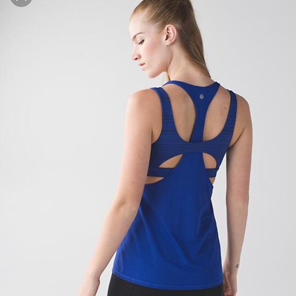 e1fc55c8da8bc lululemon athletica Tops - Lululemon blue workout tank (built in sports bra)