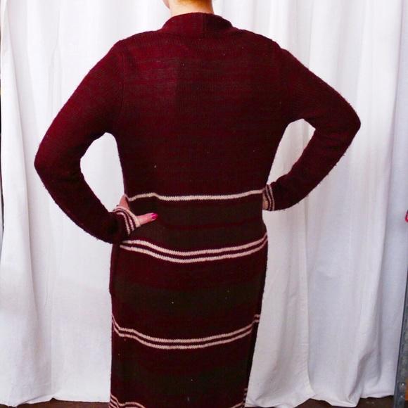 Double Zero Sweaters - 💙SALE❤️ Burgundy Long Knit Cardigan