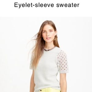 J. Crew Sweaters - J. Crew eyelet sleeve sweater