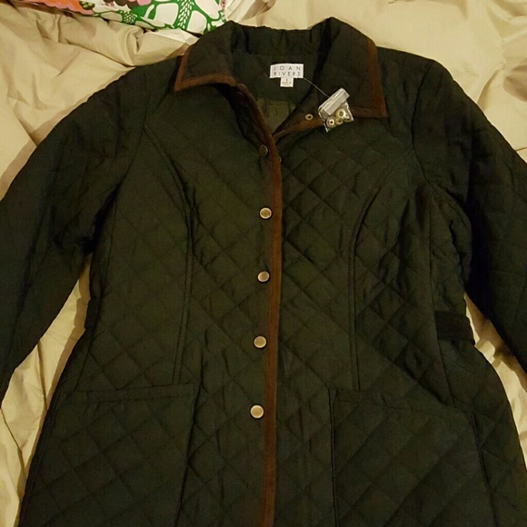 e26038ae0 Joan Rivers Black Quilted Barn Jacket