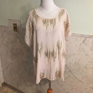 Metaphor Sequin Lined Blouse XL