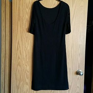 Banana Republic Dresses - NWT Preforated Dress BR black Banana Republic 10