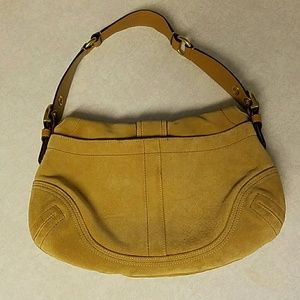 Coach Bags - Coach Medium Suede Soho Hobo Tan Light Brown