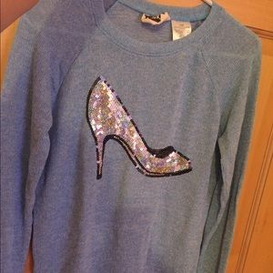 Sweaters - Blue Cinderella slipper Sweater