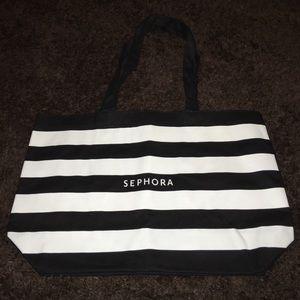 NWT striped Sephora tote