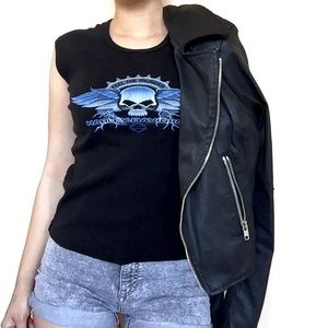 Harley-Davidson Tops - • Harley Davidson • Skull Tank