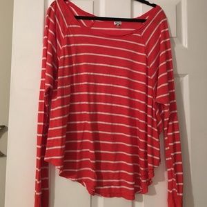 Red and White Striped Splendid swingy T-Shirt