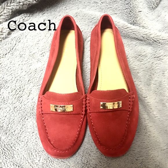 Womens Shoes COACH Fredrica Red Suede