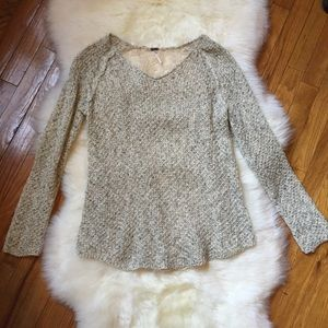 Poof Loose Knit Sweater w/ Lace Back