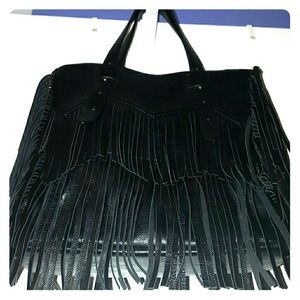 JustFab black tote bag